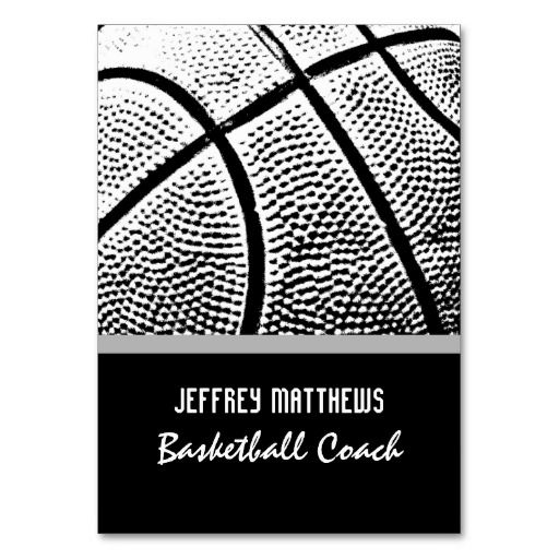 306 best sports coach business cards images on pinterest business basketball business card template colourmoves Image collections
