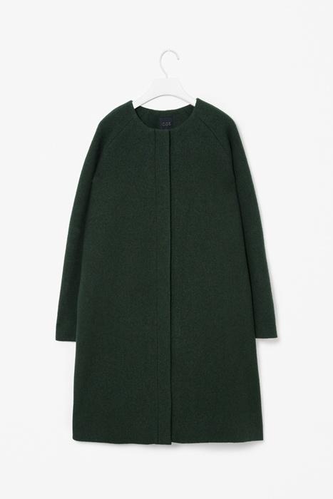 Wool A-line coat, COS