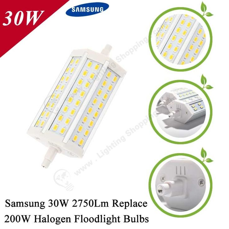 #Samsung SMD5730 #LED #Floodlight #Bulb, R7S, Replace Traditional Halogen Floodlight Bulbs --Detail-30W