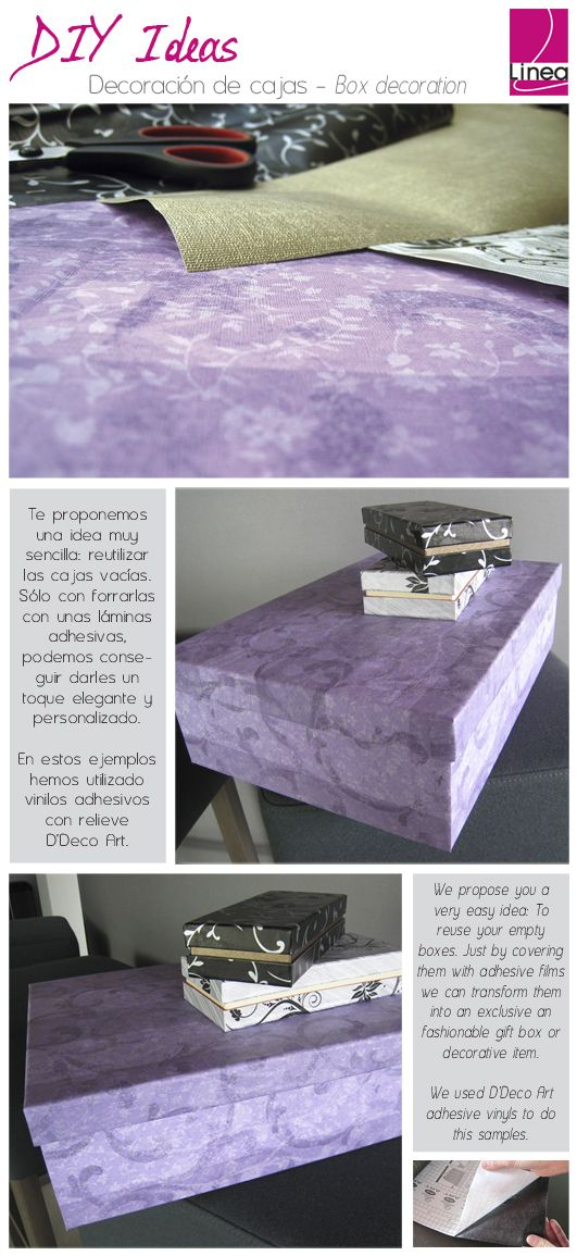 #DIY Cómo decorar una caja fácilmente -- How to decorate a box in an easy way.