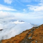 Clouds below Negoiu Peak (The Carpathians), 2535 meters.