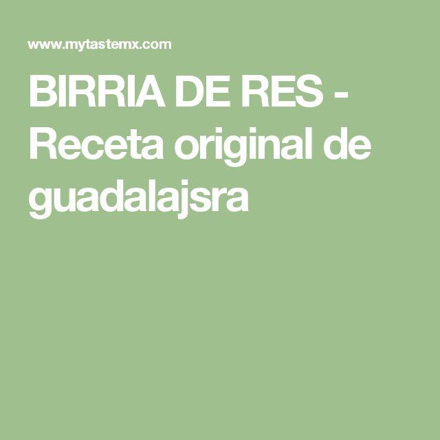 BIRRIA DE RES - Receta original de guadalajsra