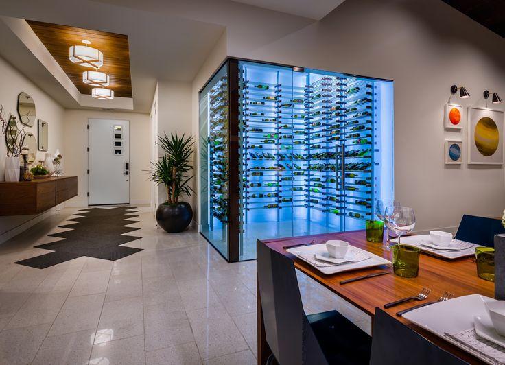 Modern Wine Room. Mid Century Modern Wine Room