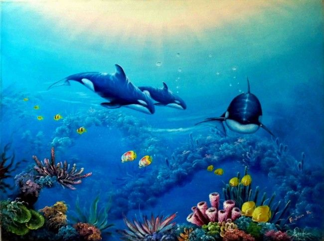 Pin By Tiffany Dupont On Painting Underwater Painting