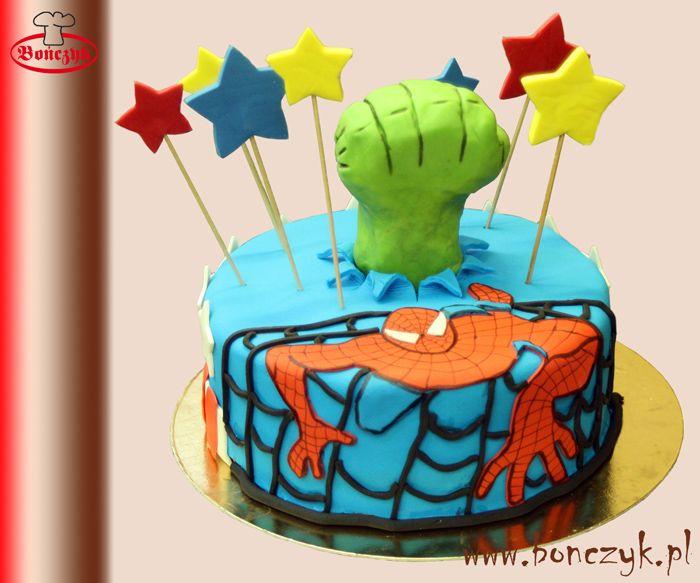#Hulk; #spiderman; #pająk; #kapitanameryka; #Hulkcake; #cake; #spidermancake; #tort; www.bonczyk.pl