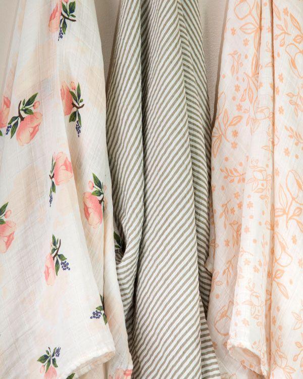 Garden Rose // Cotton Swaddle Set