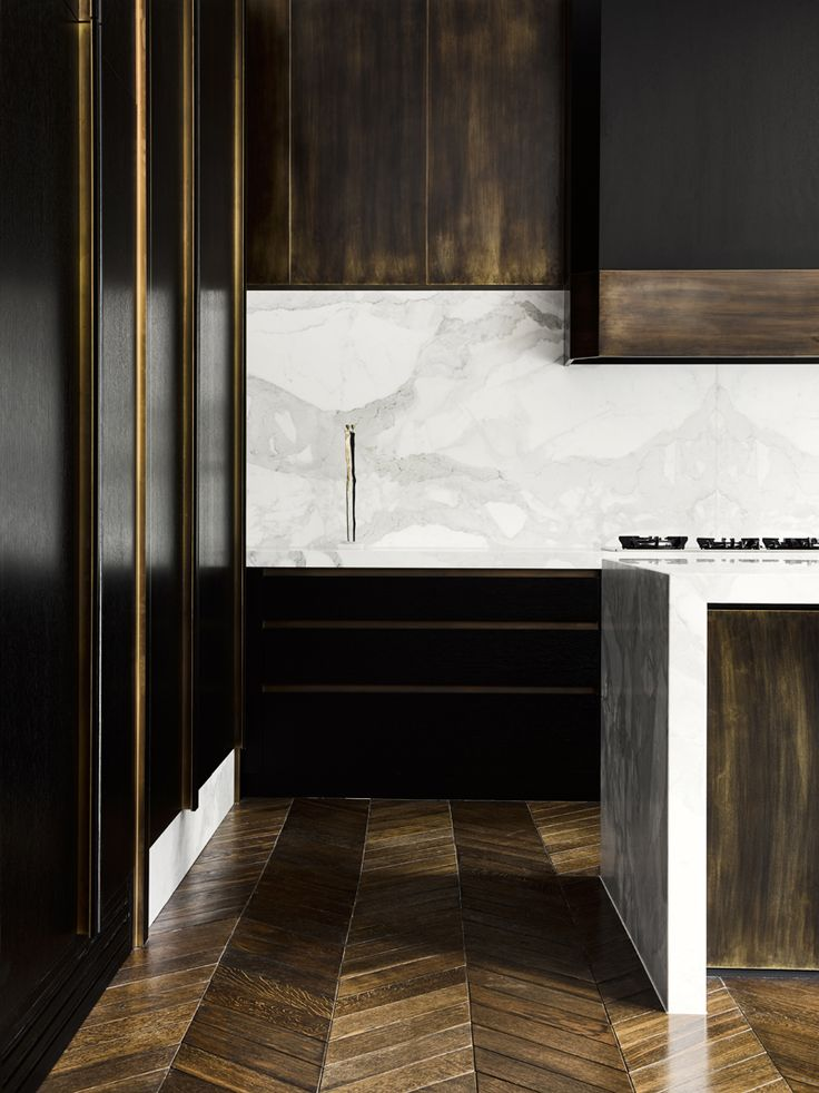 Kitchen in a Melbourne Residence by Flack Studio   Photo by Brooke Holm   Styling by Marsha Golmac