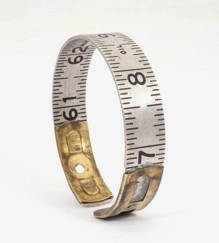 Vintage Lufkin Oil Joints Ruler Cuff Bracelet by JacQ on Scoutmob