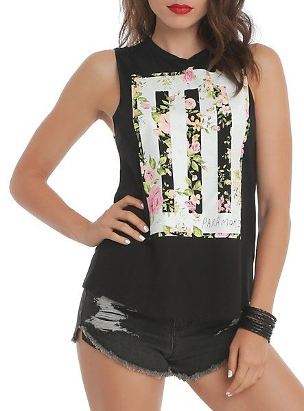 Paramore Floral Muscle Girls Top $19.60 size XL Possibly out of stock