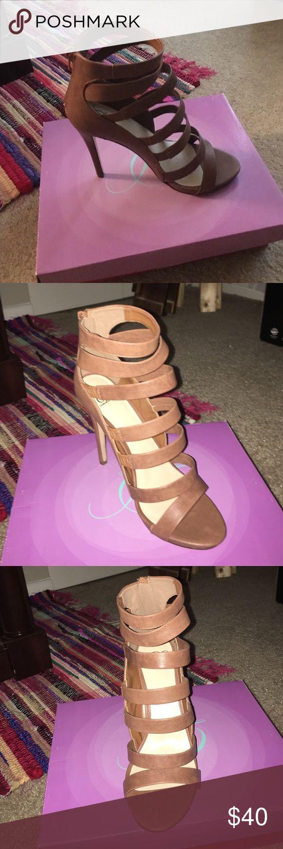 Brown High Heel Light brown, summer heel. NEVER WORN!!! ZooShoo Shoes Heels
