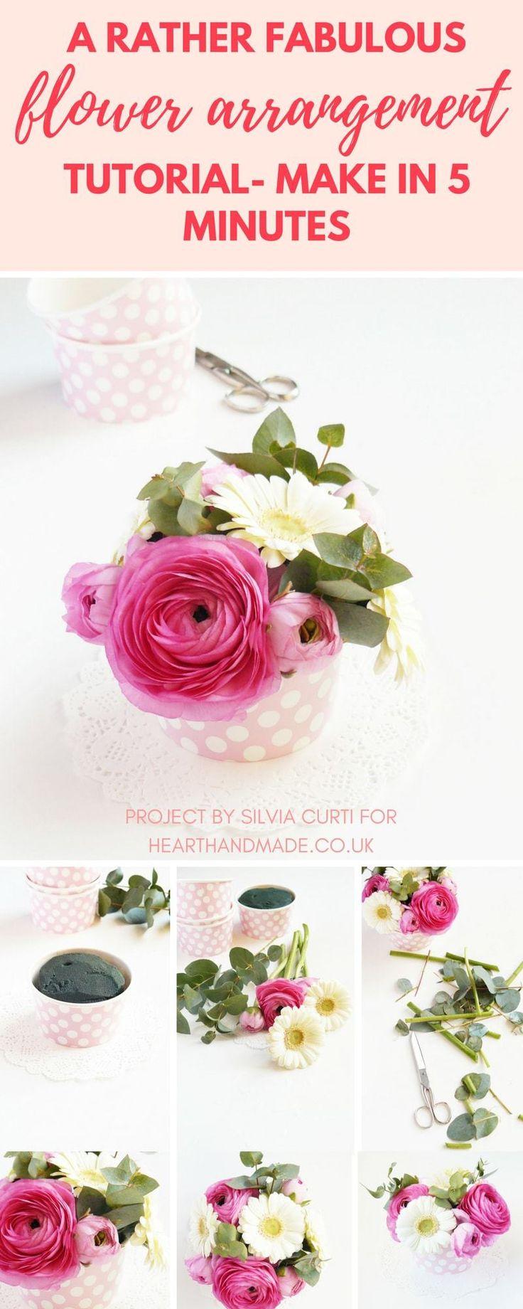 Best 25+ Easy flower arrangements ideas on Pinterest | DIY flower  arrangements for wedding, DIY flower arrangements roses and DIY flower  arrangement ...