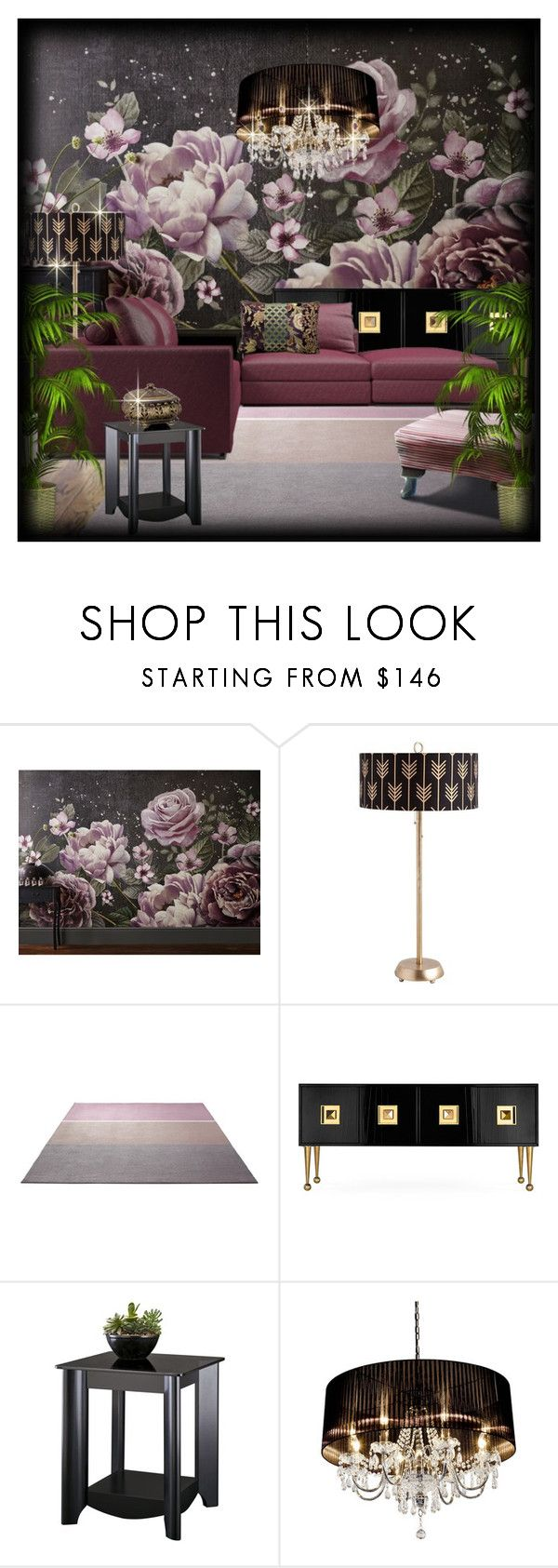 """""""@"""" by lavanda79-1 ❤ liked on Polyvore featuring interior, interiors, interior design, home, home decor, interior decorating, Graham & Brown, ESPRIT, Jonathan Adler and Bush Furniture"""