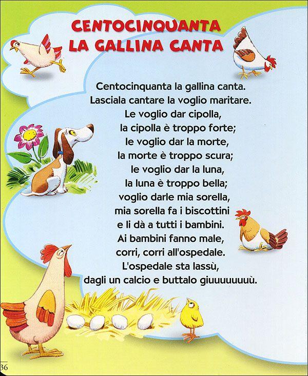 Filastrocche Filastrocche Learning Italian Italian Language