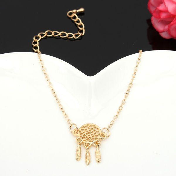 Feather Tassel Chain Bracelet, Dream Catcher Pendant Bracelet