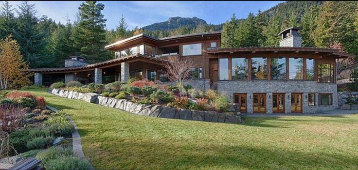 Mansion Located In Whistler Ski Resort Near Vancouver