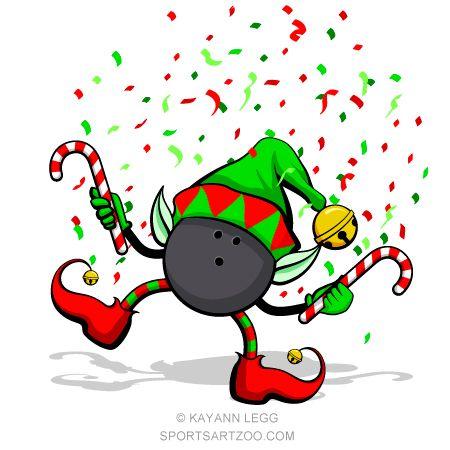 Bowling christmas. Elf
