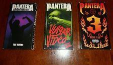 Pantera VHS Video Lot - 3 total cfh dime bag darrell