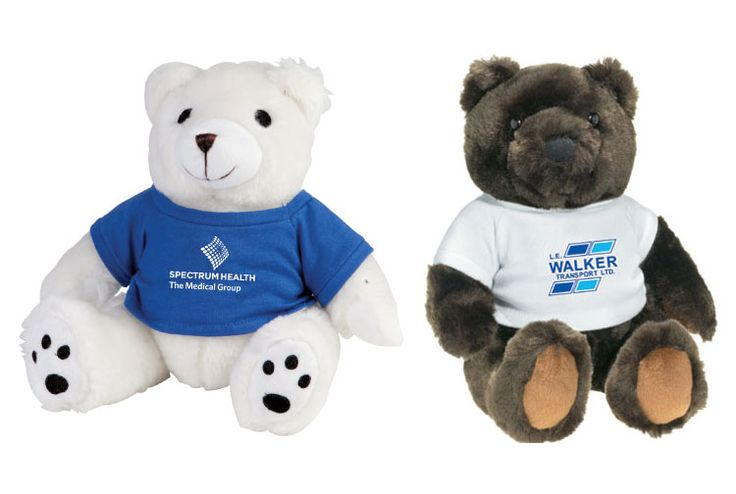 Cute, hypoallergenic teddy bears looking for a home Huggable and lovable Form fitting t-shirt included with 1 location/1 colour imprint.