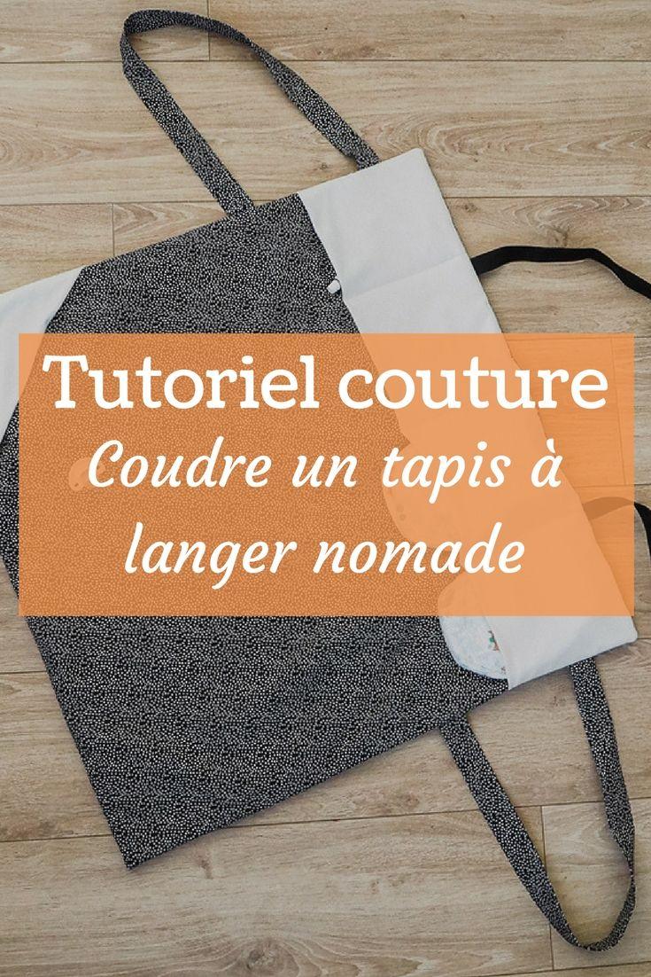 Tuto – Coudre un tapis à langer nomade