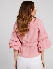 All The Right Moves Wrap Top