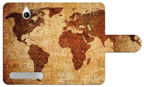 Sony Xperia E1 Uniek Design Hoesje Wereldkaart  Sony Xperia E1 uniek wereldkaart design boekhoesje met opbergvakjes. Door dit beschermhoesje heb je geen krassen deukjes of andere mogelijke beschadigingen aan je telefoon. Het hoesje is gemaakt van hoge kwaliteit PU-leder en heeft een plastic case. Deze case is speciaal voor de Xperia E1 gemaakt zodat je toestel er veilig en stevig in past. In de case zijn uitsparingen gemaakt zodat alle knoppen en poorten van je telefoon altijd te gebruiken…