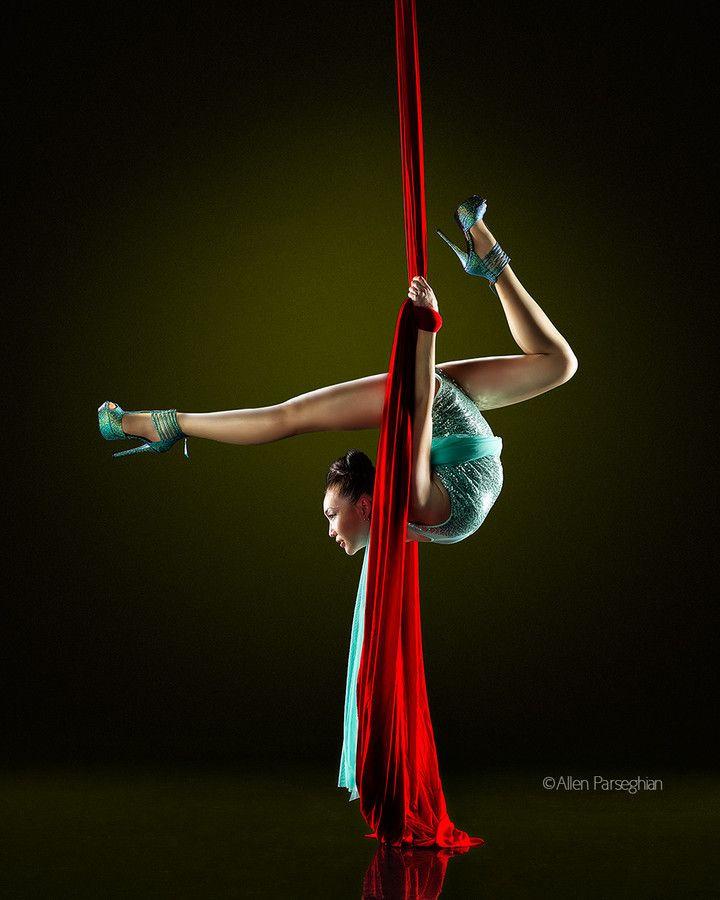 Red Silk (Baaska Enkhbaatar of Cirque du Soleil) by Allen Parseghian on 500px