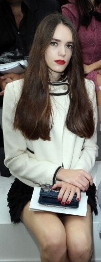 #StacyMartin at #Chanel Show SS 2013, #Parisfashionweek, October 2, 2012, Paris, France
