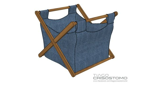 Cesto para roupas - 3D Warehouse