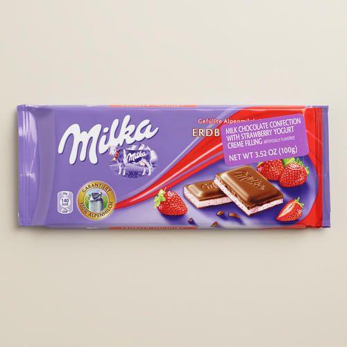 Milka bar- strawberry