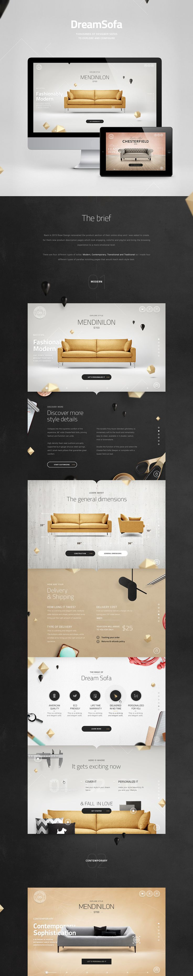 DreamSofa on Web Design Served