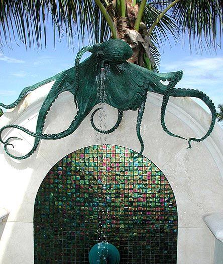 Octopus Pool Shower - whoa - that just kinda cool :-)