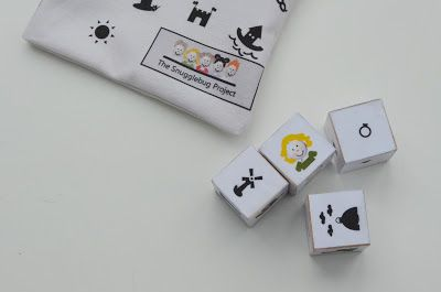 Help your kids become storytellers by making your own story dice, journal, and tote bag.  FREE DIY!