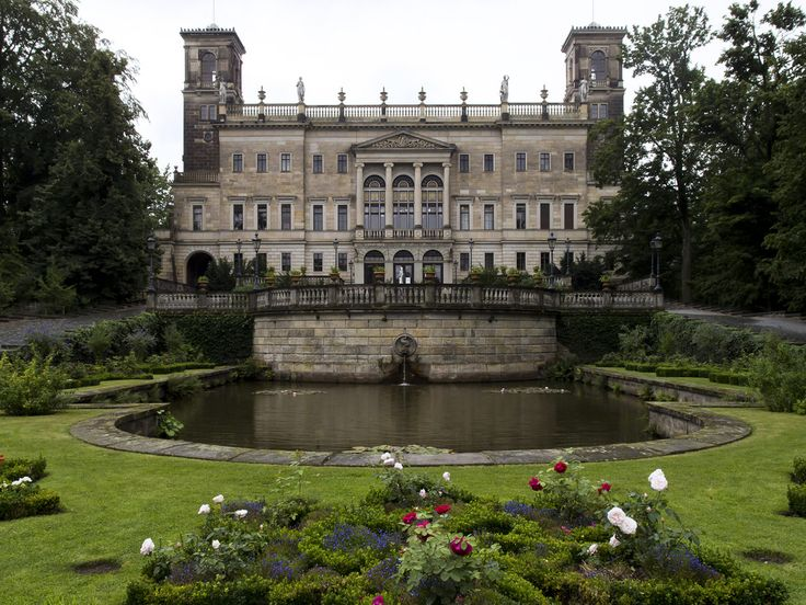 Fancy Schloss Albrechtsberg is a neoclassical castle situated above the Elbe river in the Loschwitz district of