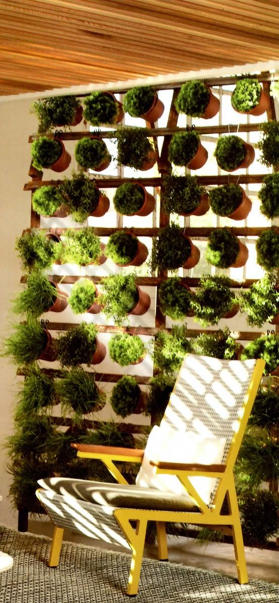 Privacy Screen And Herb Garden! Sideways Terra Cotta   Makes A Pretty  Divider Or Privacy Screen On A Porch Or Patio