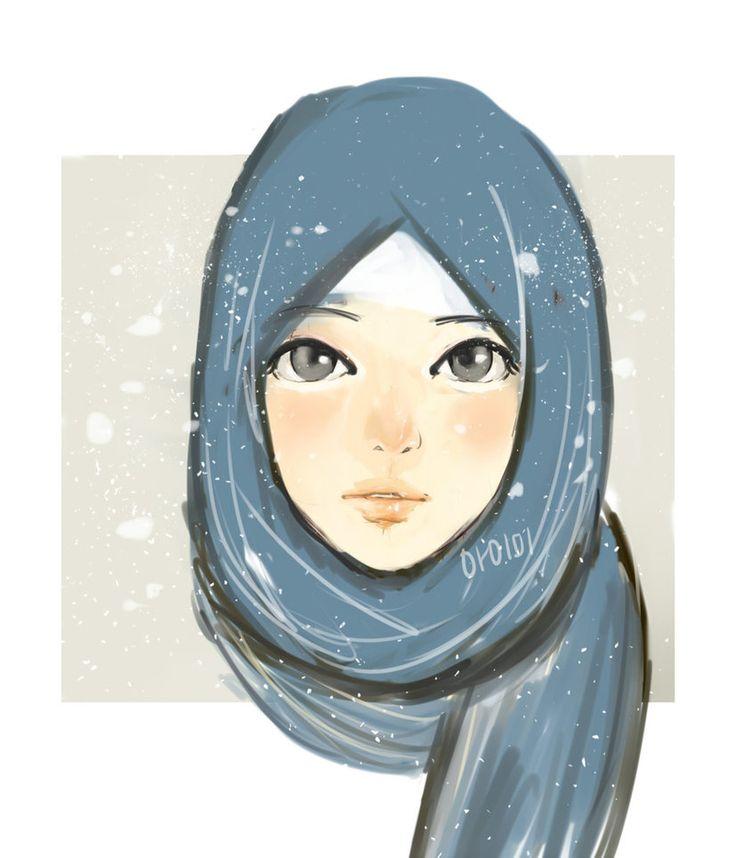 Blue Hijab by mai-toushiro.deviantart.com on @DeviantArt