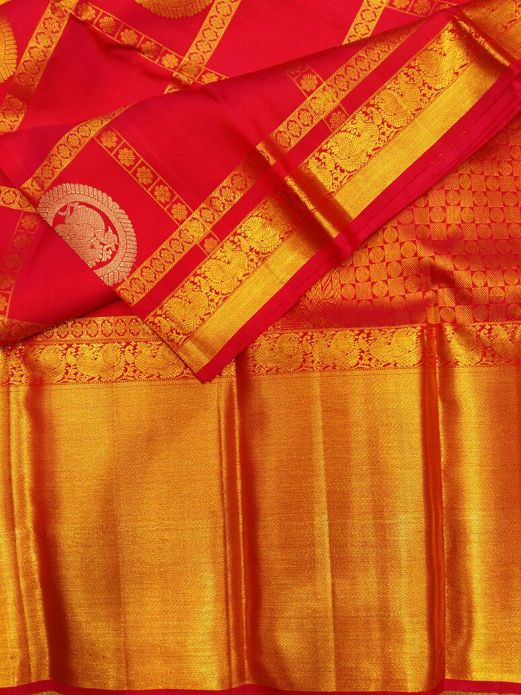 Buy Kanjeevaram Sarees from our online shop in different color and print. We are one of best online supplier of Kanjeevaram Sarees in India at affordable cost.