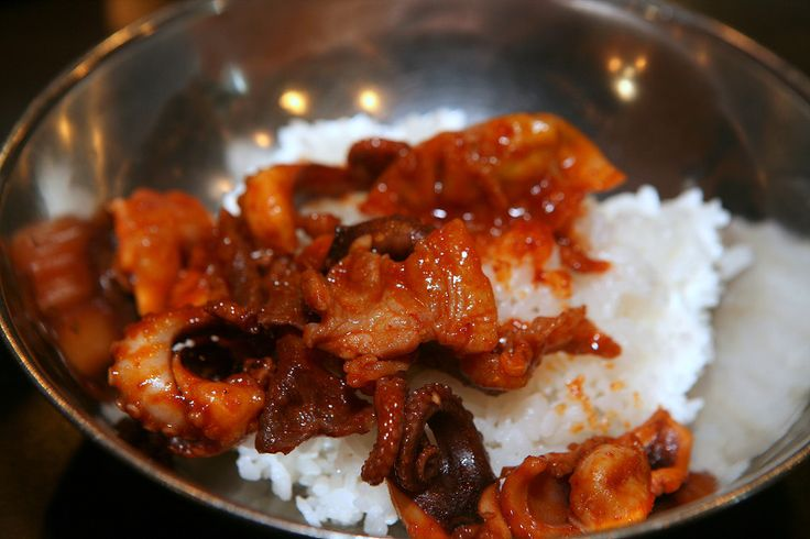 종로3가 맛집골목  쭈꾸미 삼겹살 차돌박이 :: Korea Food