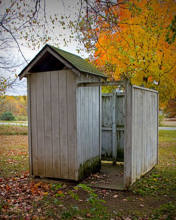 vintage michigan outhouse