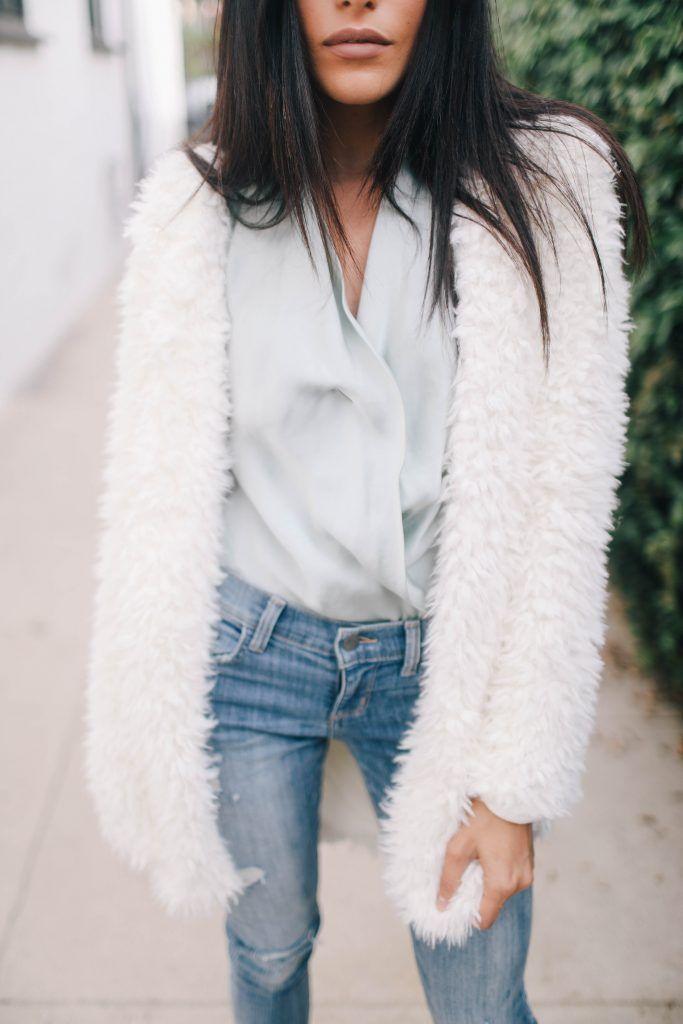 {Fluffy sweater.}