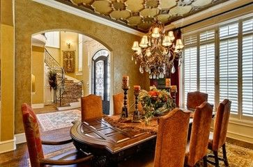 Dining Room Mediterranean Design Ideas, Pictures, Remodel and Decor