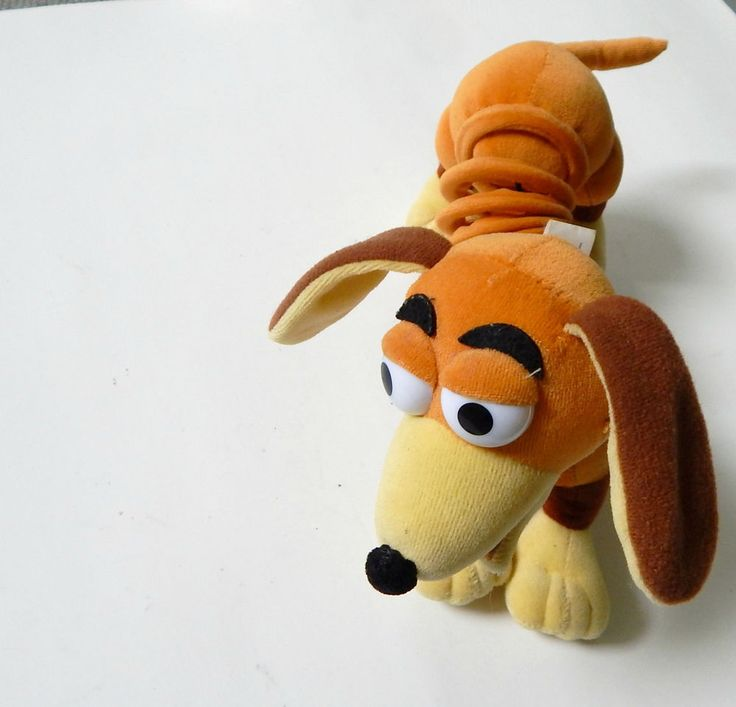 Disney's Toy Story Slinky Dog Plush Pull Toy Soft 10 Inches Elastic Band Styled #Slinky