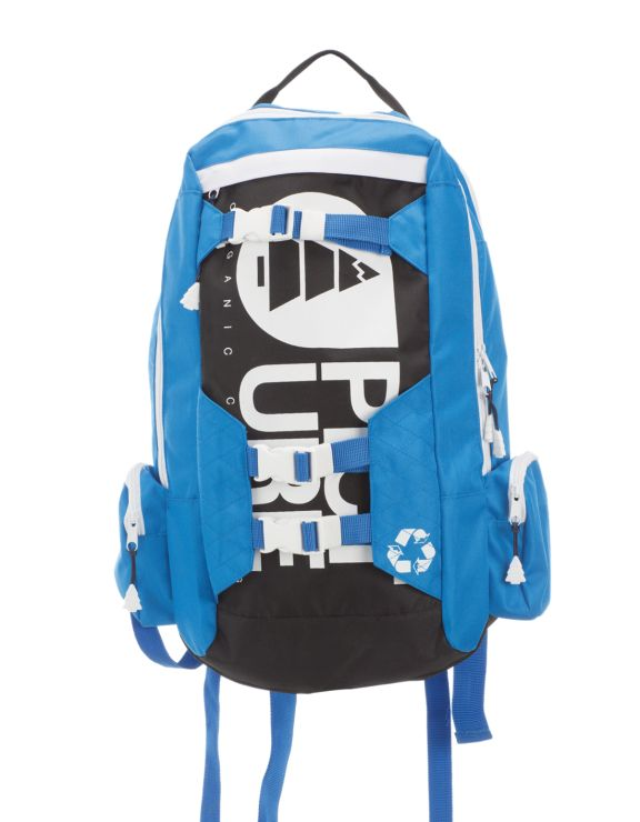 Picture Organic Clothing Winter 2015 , Blue Black White Baggy Backpack, Snowboard / Ski / Skate | f riders inc