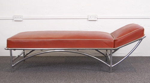 1930s kem weber modernist chaise longue danish modern for Art nouveau chaise lounge