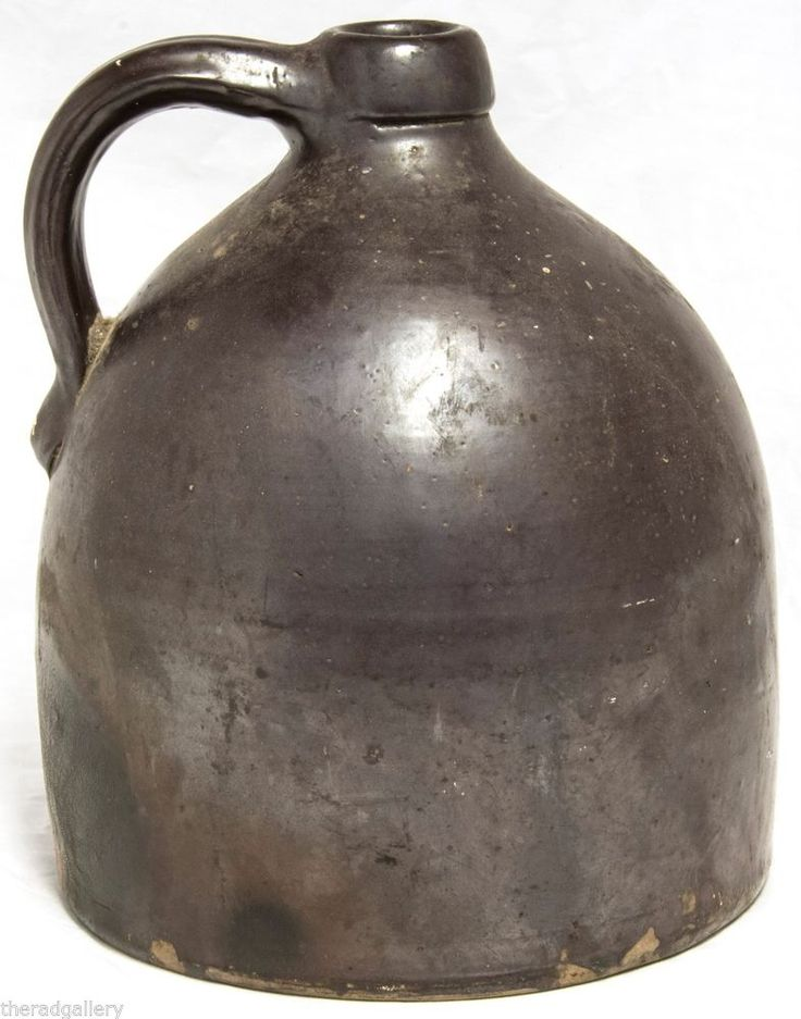 Cool ol Antique Beehive Whiskey Moonshine Jug Brown Matte Glaze #Americana