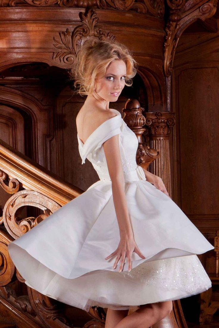 Robe de mariée courte - Linn - Oksana Mukha