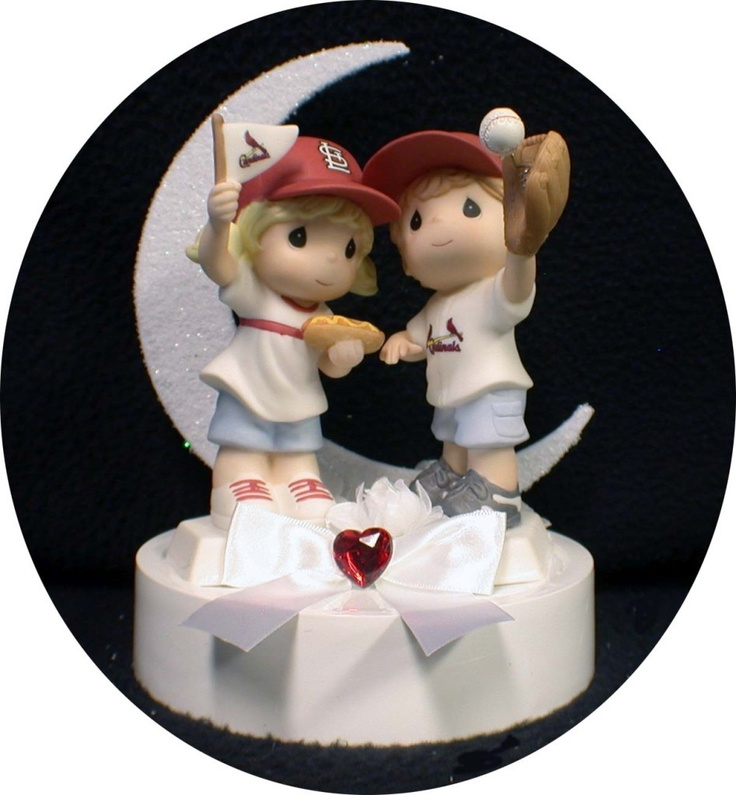 cardinals baseball wedding cake topper st louis fans 13400 via etsy