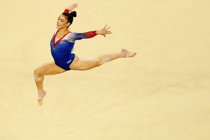 Alexandra Raisman of the United States of America competes on the Women's Floor final on Day 11 of the Rio 2016 Olympic Games at the Rio Olympic Arena on August 16, 2016 in Rio de Janeiro, Brazil.