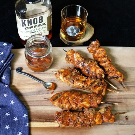 Bacon Bourbon BBQ Chicken Kebobs. Does it get any better?!