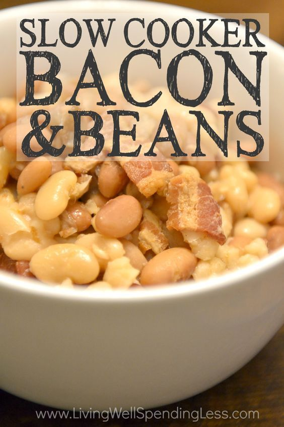 Slow Cooker Bacon & Beans Recipe!