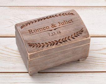 Ehering Box Ehering Inhaber Ring Kissen Träger-Box mit schäbig